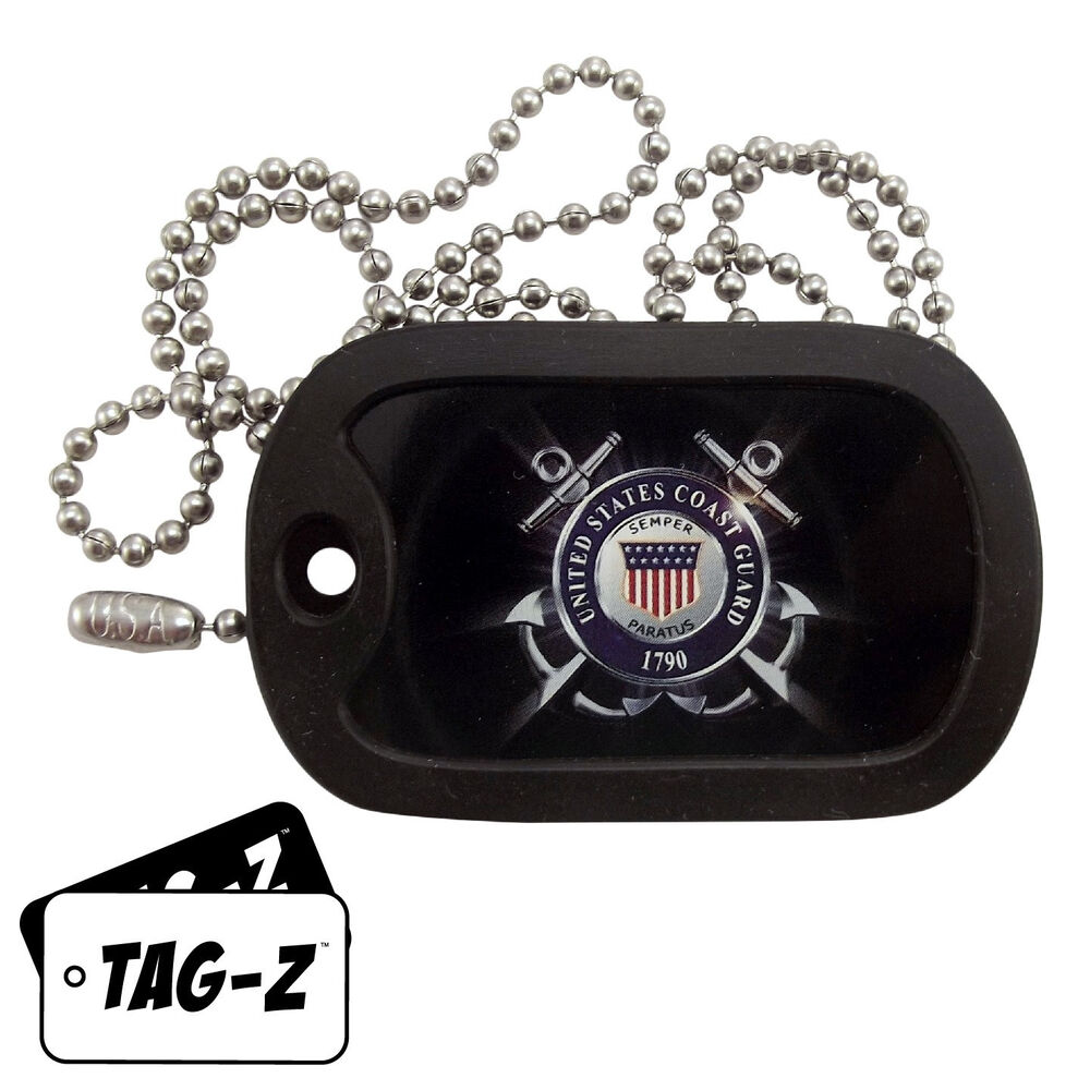 Military Dog Tag Necklace - U.S. COAST GUARD TAG with a ...