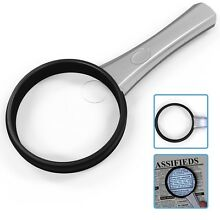 3X Ultra Bright & Lightweight LED Handheld Magnifying Glass with Light
