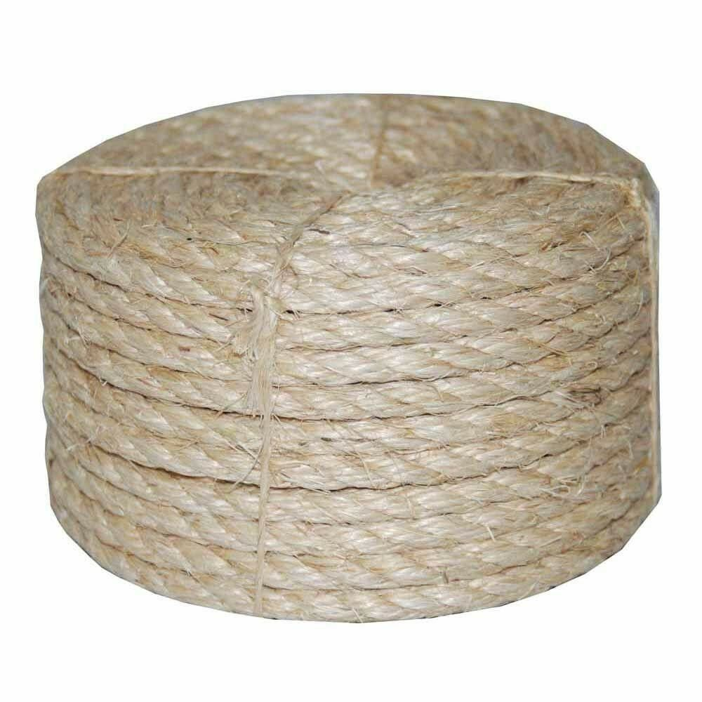 3 8 Dia X 100 39 Twisted Sisal Rope 100 Natural Fiber