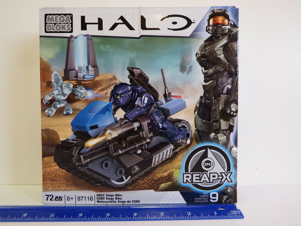 Halo Mega Bloks 97116 Unsc Siege Bike Set 9 72 Pc Set Ages 8