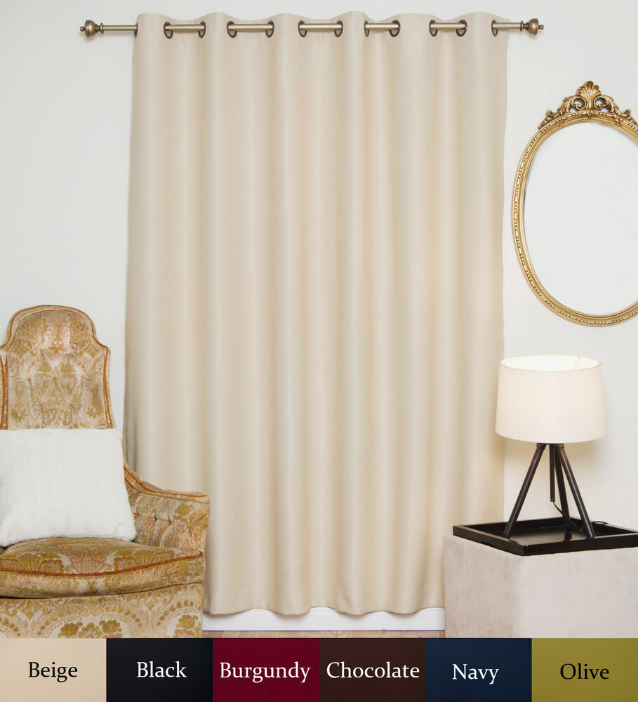 wide width antique brass grommet top blackout curtain 80 inch by 120 inch panel ebay. Black Bedroom Furniture Sets. Home Design Ideas