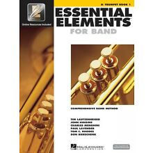 Essential Elements for Band Book 1 with EEi Bb Trumpet Band Book Media 000862575