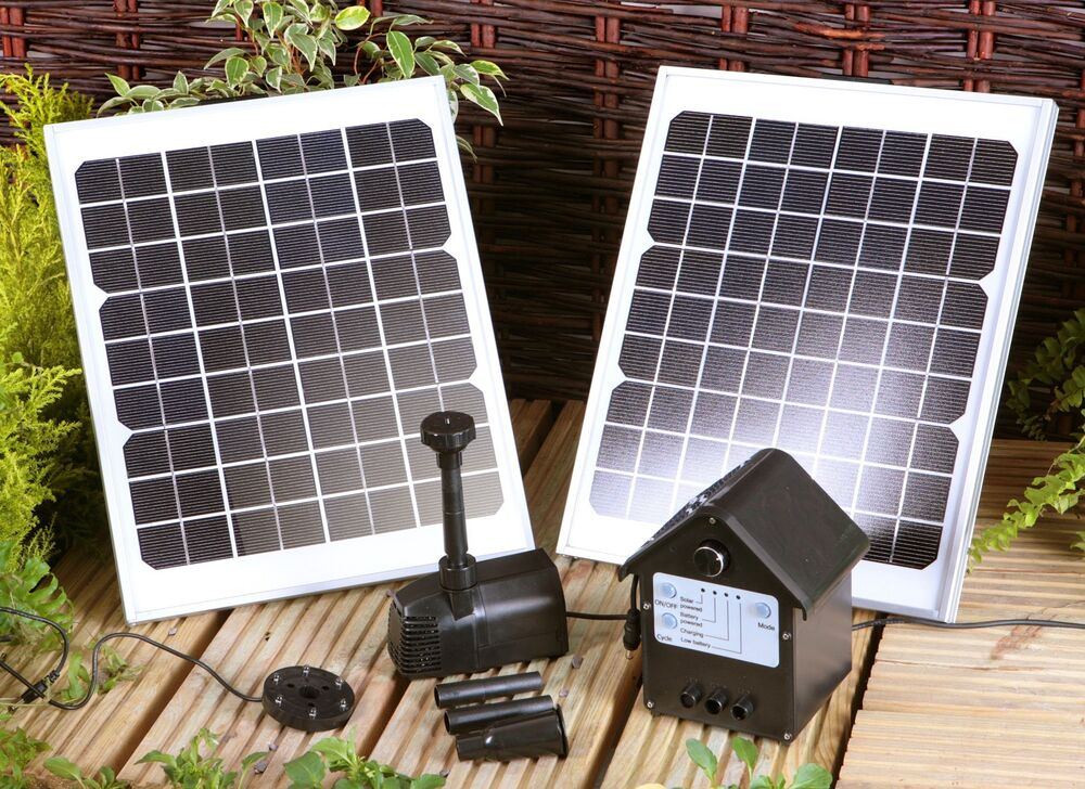 409 Gph Solar Power Outdoor Fountains Pond Water Pump