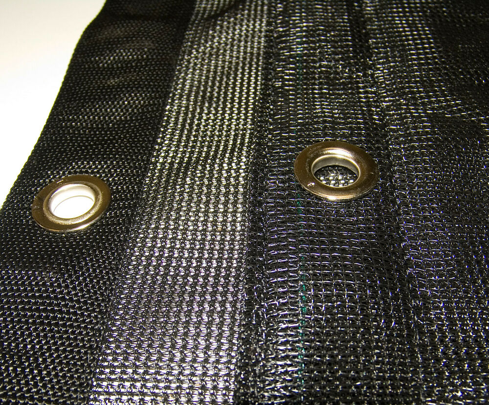 Mesh Tarp Black 10 X 20 Heavy Duty Materials Ebay