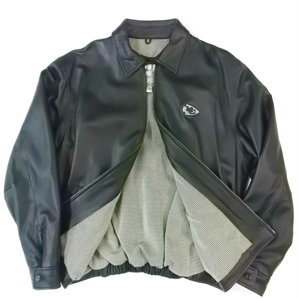 Leather nfl jacket