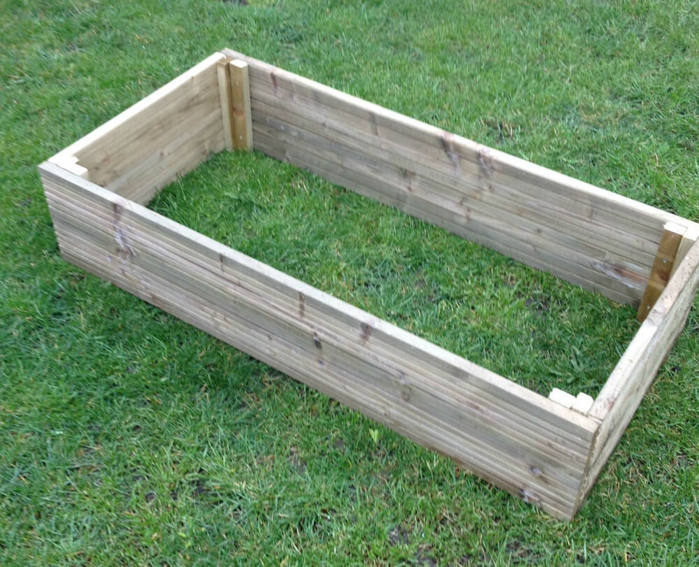 tanalised decking raised bed vegetable garden planter