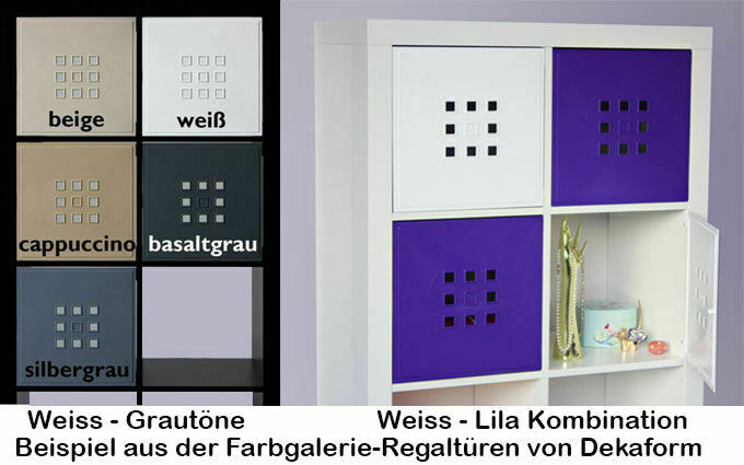 regalt r w rfel regal flexi ikea expedit kallax erg nzung einsatz mit t r lekman ebay. Black Bedroom Furniture Sets. Home Design Ideas
