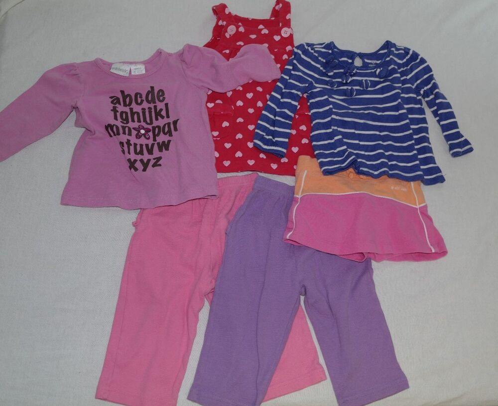 Girls Baby 12 month clothes lot Carter s Old Navy Toddler