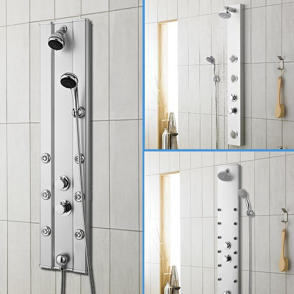 Body Jet Shower Bathroom: Bathroom Thermostatic Shower Panel Column Tower With Body