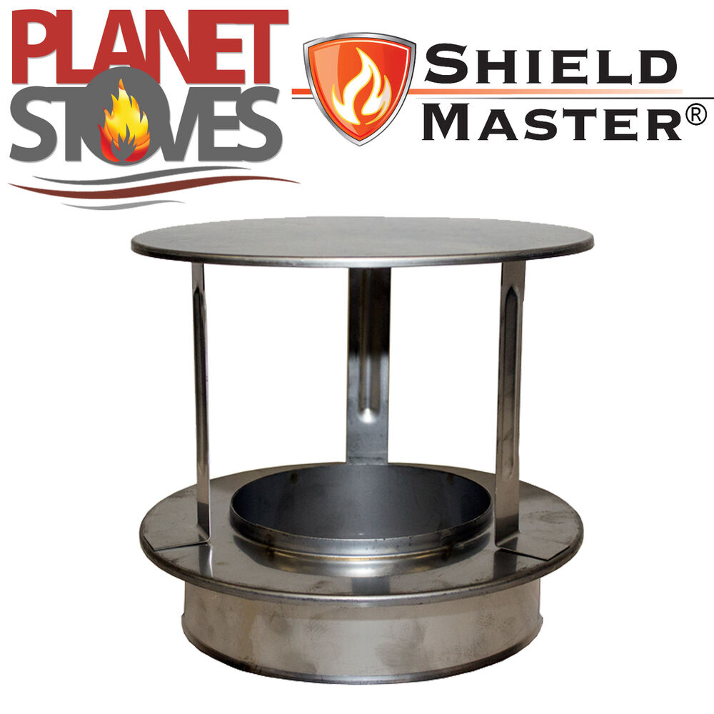 Stainless steel shieldmaster rain cap for twin wall