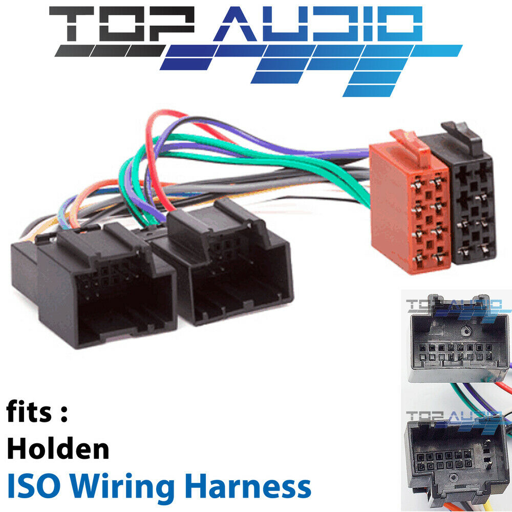 Iso wiring harness plug lead wire loom connector radio