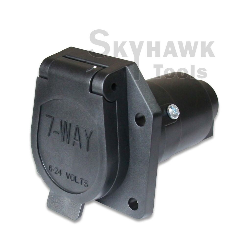 way round trailer connector female rv light plug connector 7 poles. Black Bedroom Furniture Sets. Home Design Ideas