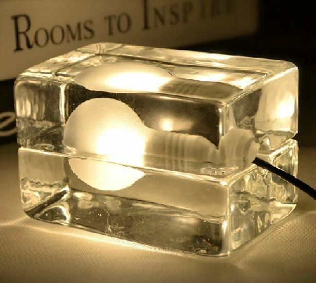 Ice block cube diy table lamp floor lighting living room for Ebay living room lights