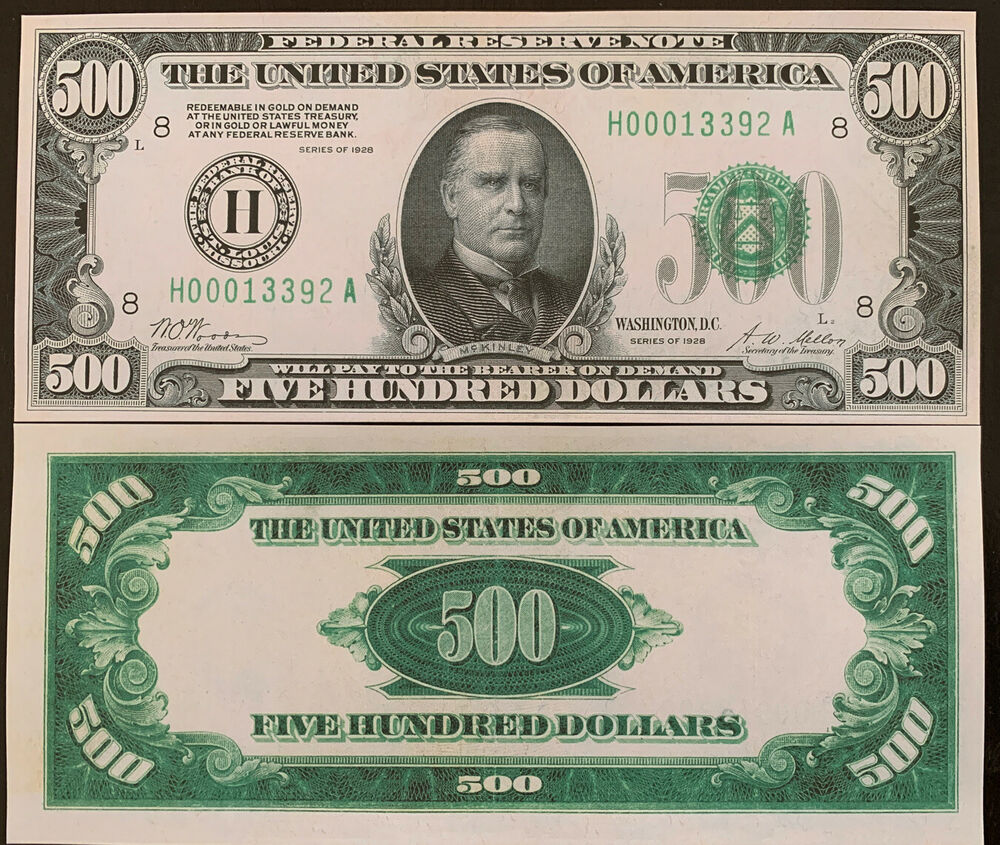 Reproduction united states 500 bill federal reserve note for 200 thousand dollar homes