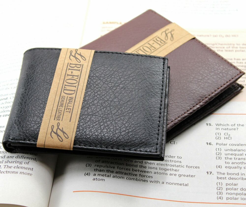 Mens Slim Thin Handcrafted High Quality Bifold Leather ...