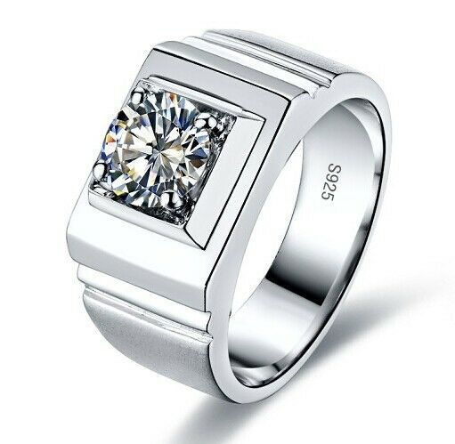 size 7 13 brand new mens jewelry 925 silver white