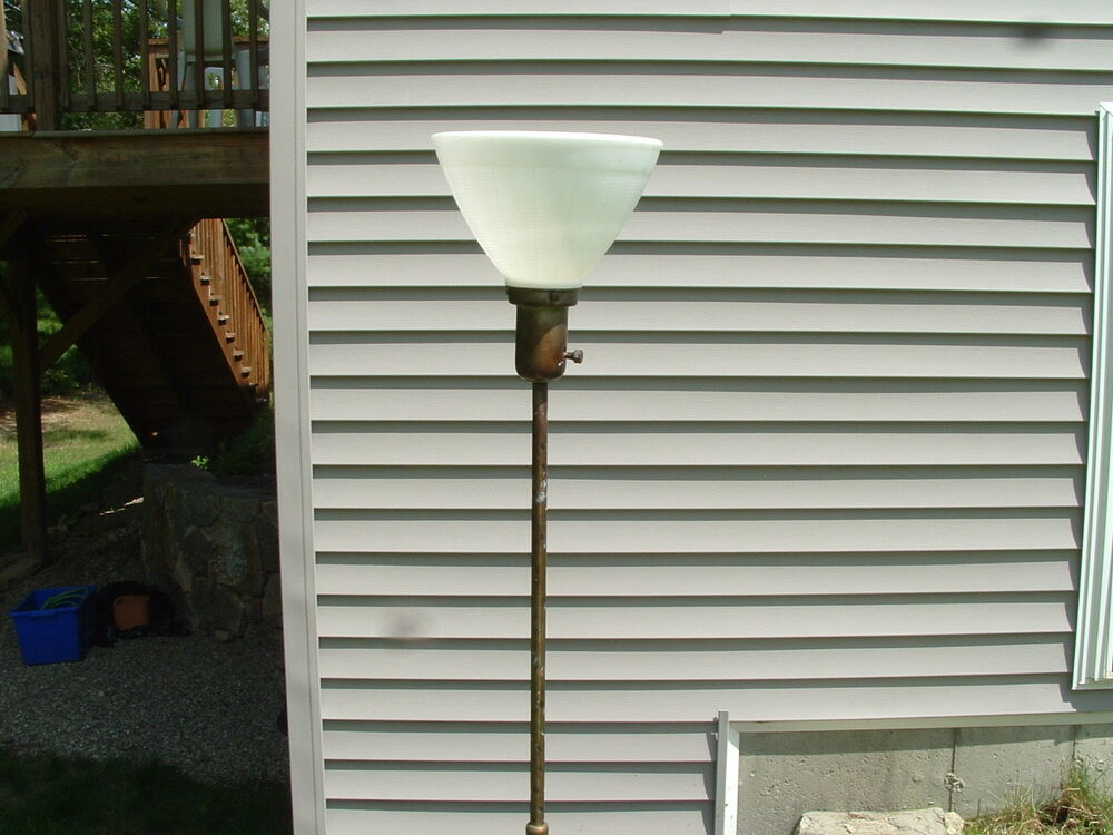 Vintage Antique Stiffel Brass Candelabra Floor Lamp