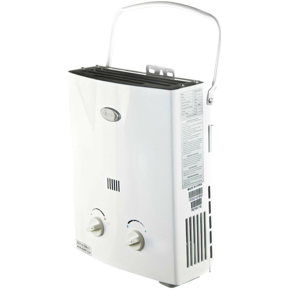 Marey propane tankless water heater mini portable lp for Free portable