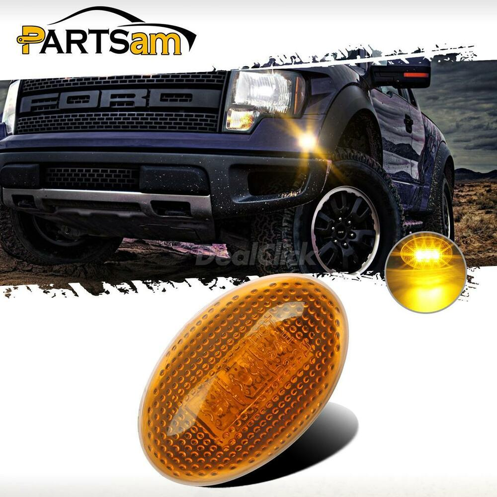 For 99 10 Ford F350 Side Amber Fender Marker Dually Bed