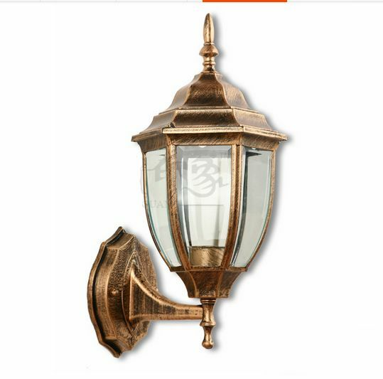 Metal Outdoor Wall Lights : Nice Antique Industrial Metal Wall Lamp Outdoor Glass DIY Lighting European eBay