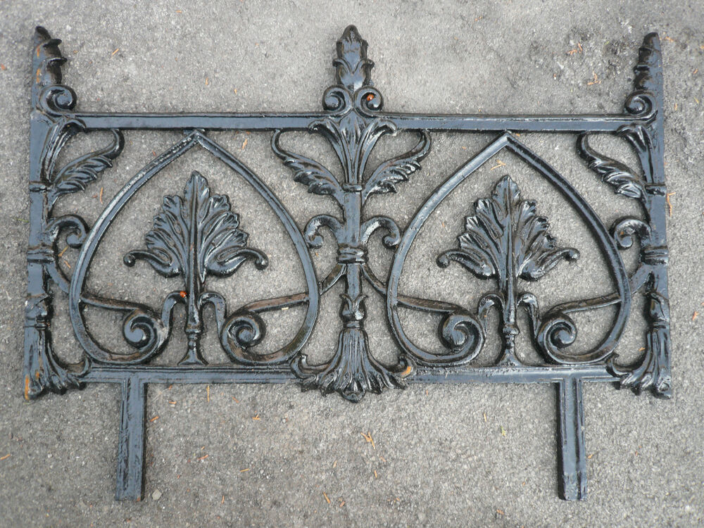 Recast Decorative Cast Iron Railing Garden Edging Gates