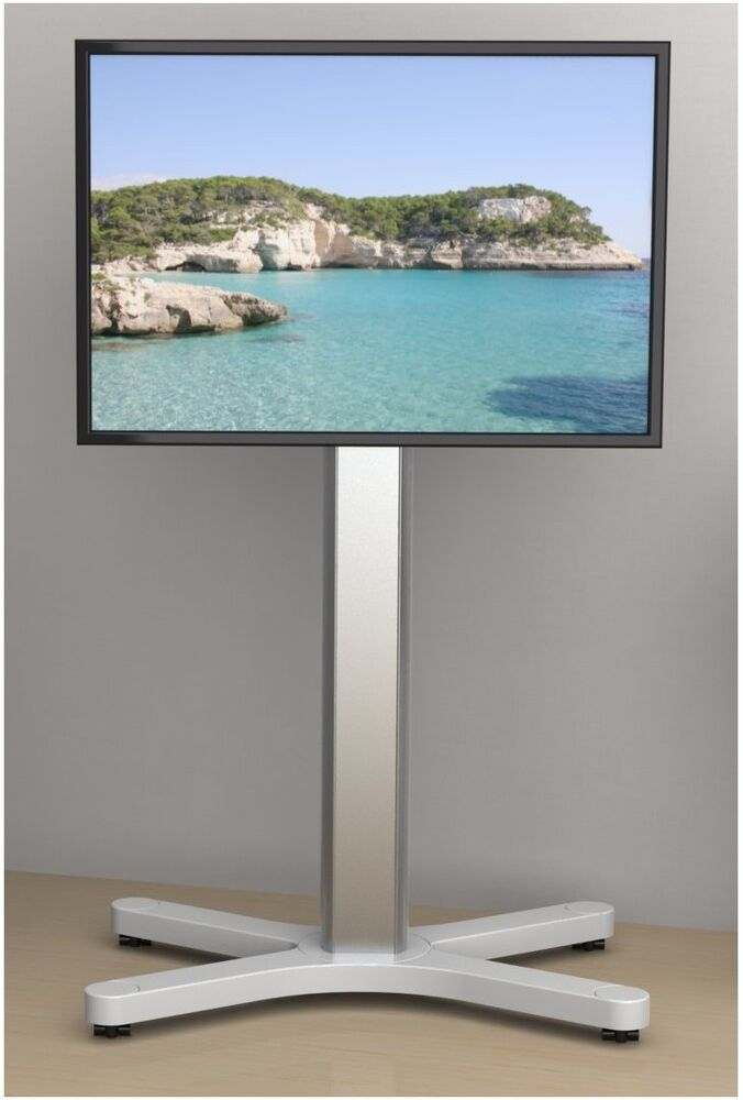 led lcd plasma tv st nder halter fu standfuss x tower midi mit rollen ebay. Black Bedroom Furniture Sets. Home Design Ideas