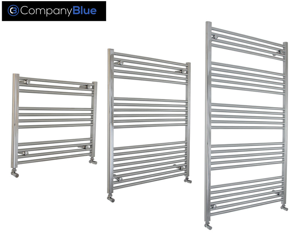 600mm Wide 800mm High Straight Chrome Heated Towel Rail: 700mm Wide Bathroom Heated Towel Rail Radiator Chrome