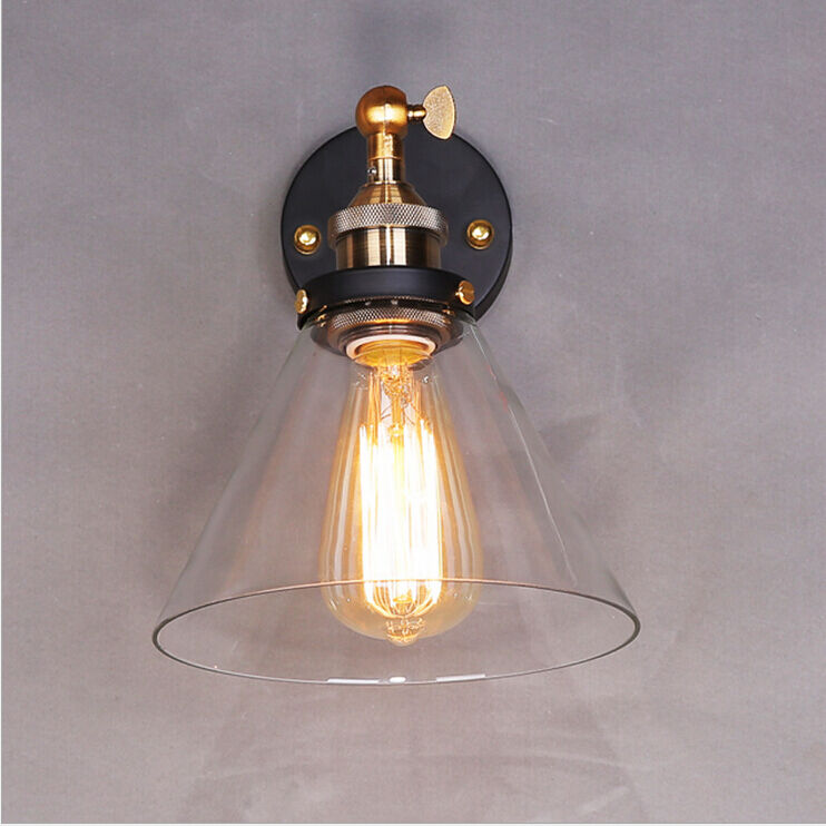 Contemporary Vintage Wall Lights : Vintage Industrial Modern Contemporary Glass Sconce Funnel Wall Lights Wall Lamp eBay