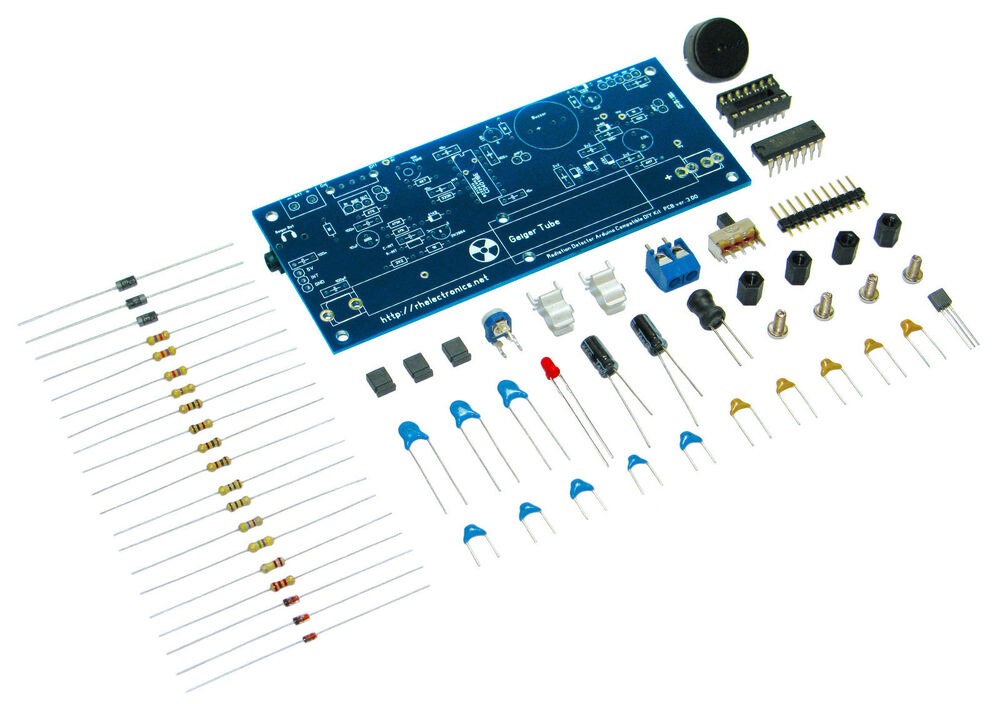 New diy geiger counter kit nuclear radiation detector