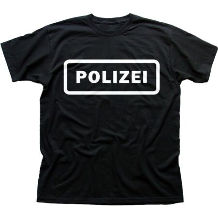 img-POLIZEI Police security black printed cotton t-shirt 9612