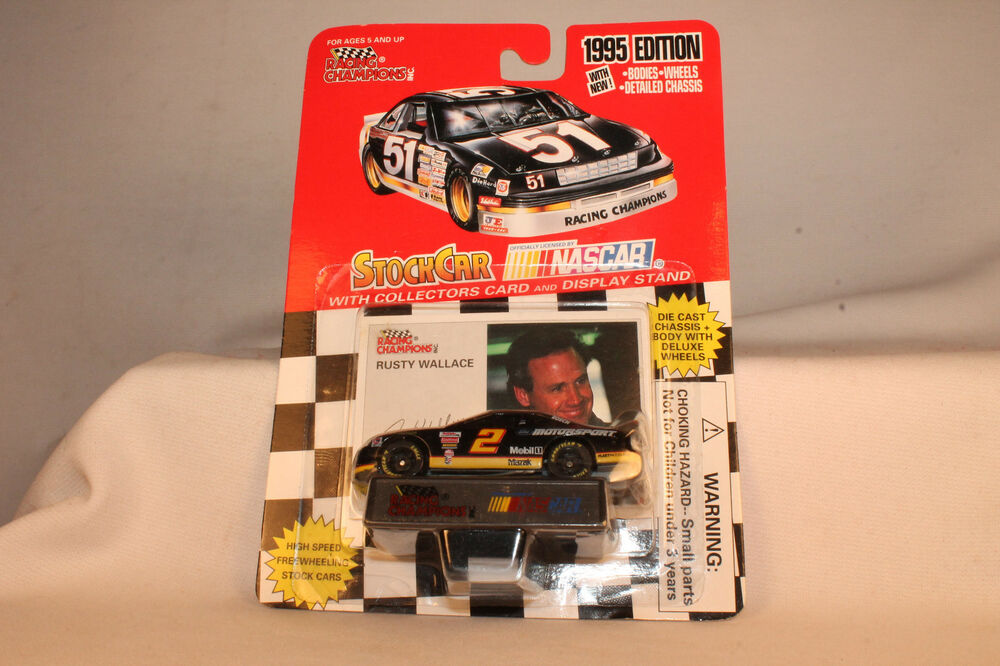 Rusty Wallace Ford >> RACING CHAMPIONS DIECAST NASCAR RUSTY WALLACE MOTORSPORT FORD, 1:64, MOC | eBay