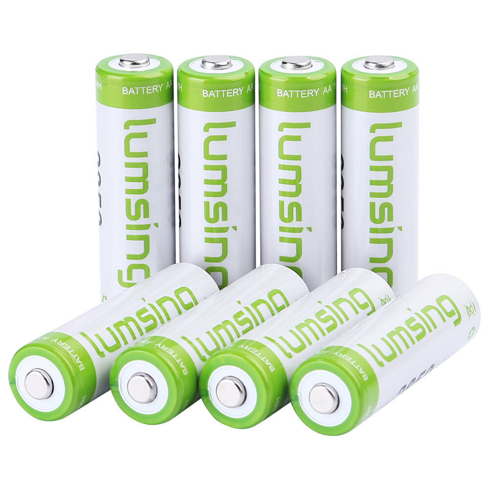 8 x rechargeable aa battery 1 2v 2850mah ni mh. Black Bedroom Furniture Sets. Home Design Ideas