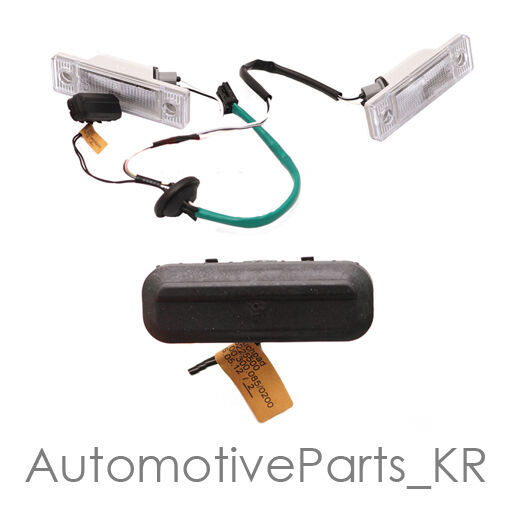 Trunk Release Switch Amp Licence Plate Lamp Complete Set For