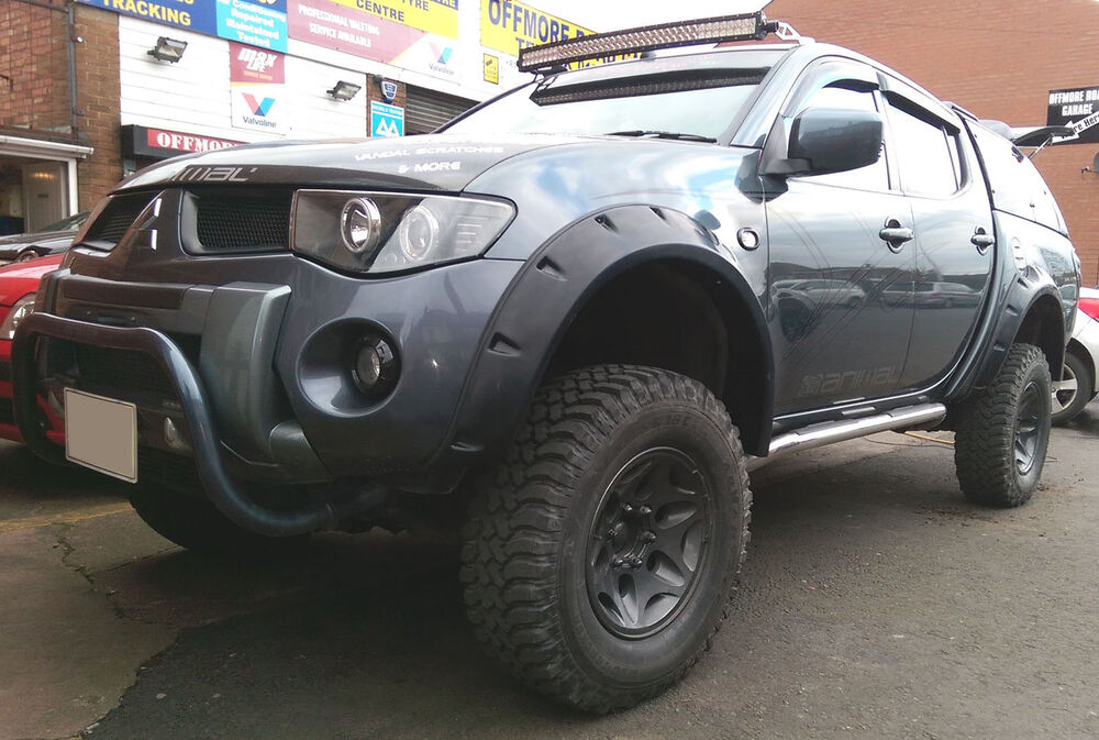 Mitsubishi Triton Accessories Ebay >> Wide fender flares wheel arches for MITSUBISHI L200 Warrior, Triton, Animal | eBay