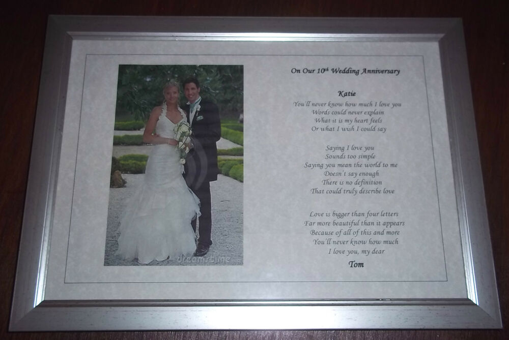 Wedding Anniversary Gifts By Year Uk: Personalised Wedding Anniversary POEM Gift