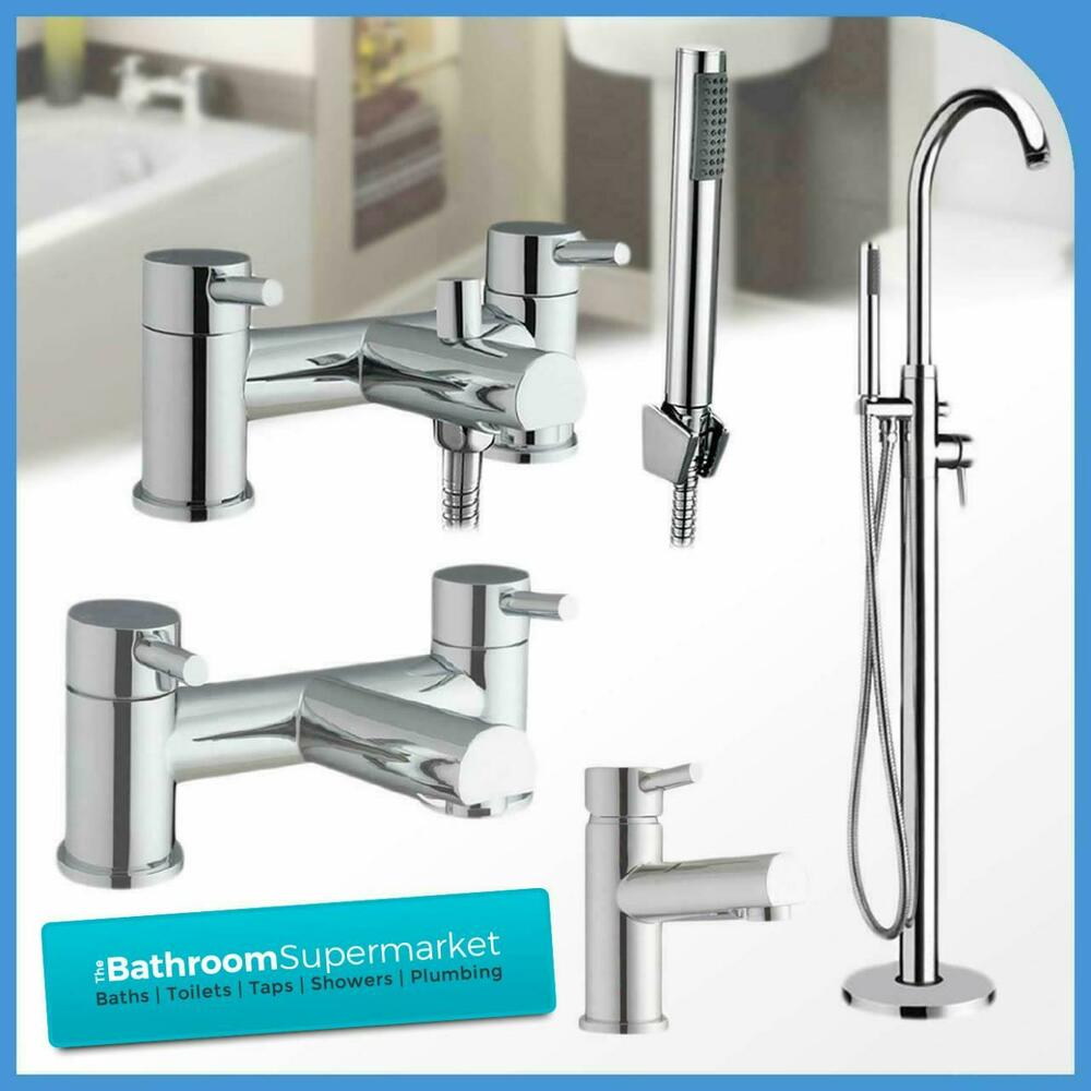 Premier chrome bathroom taps sink basin mixer bath filler for Bathroom taps