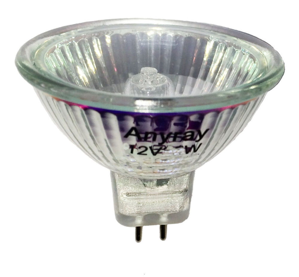 Anyray A1882y 1 Mr16 12v 10 Watt Flood Halogen Light Bulbs Gu5 3 10w 12 Volts Ebay
