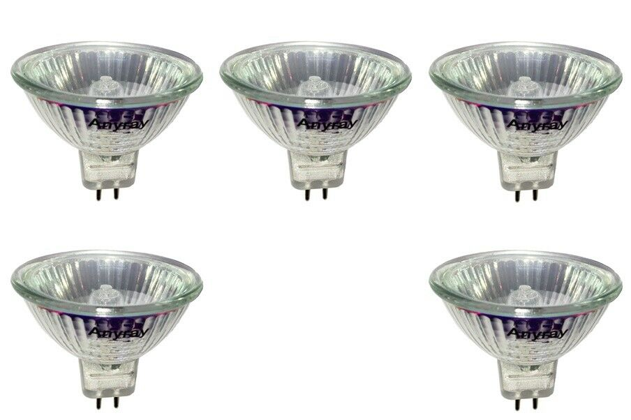 Anyray 5 mr16 12 volts 10w flood halogen light bulbs 12v for Where to buy halogen bulbs