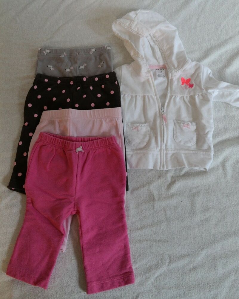 Girls Baby 3 Month Clothes Lot Carter S Infant Fall Ebay