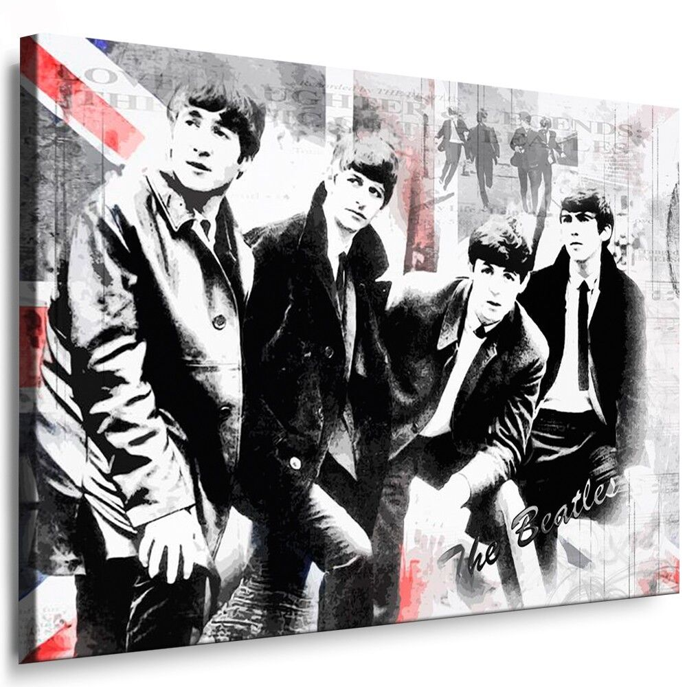 the beatles leinwand bild keilrahmen kunstdruck bilder kein poster o cd 121 ebay. Black Bedroom Furniture Sets. Home Design Ideas