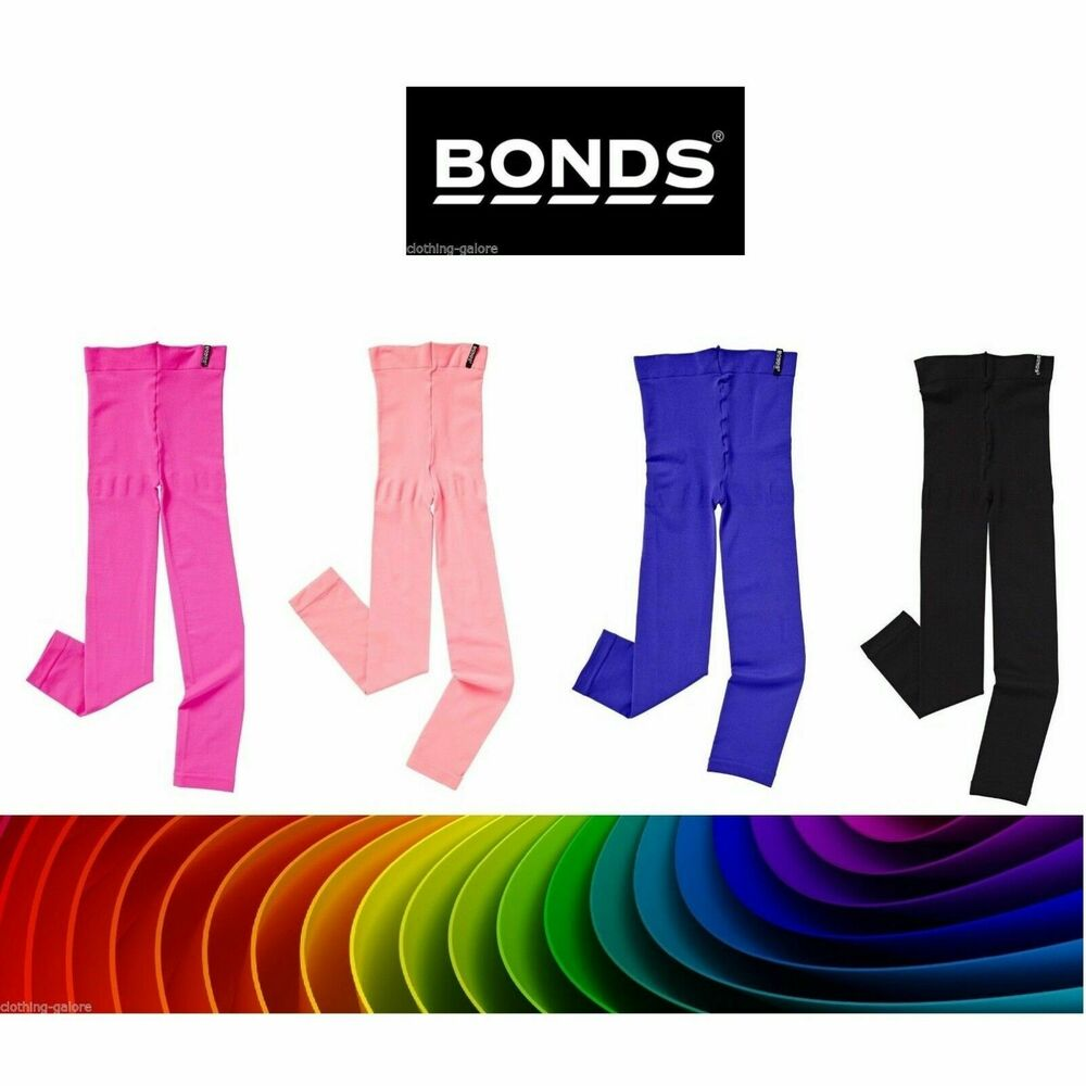 968f4585174a5 Details about BONDS GIRLS 40 DENIER OPAQUE FOOTLESS TIGHTS PANTYHOSE KIDS  BLACK PINK PURPLE