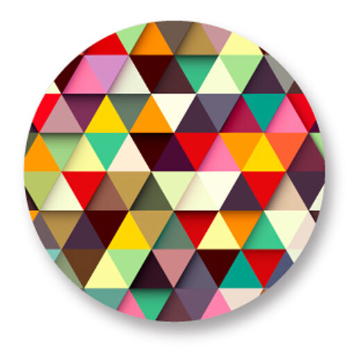 Magnet Aimant frigo Ø38mm Motif Geometrique Repetitif Multi Couleur