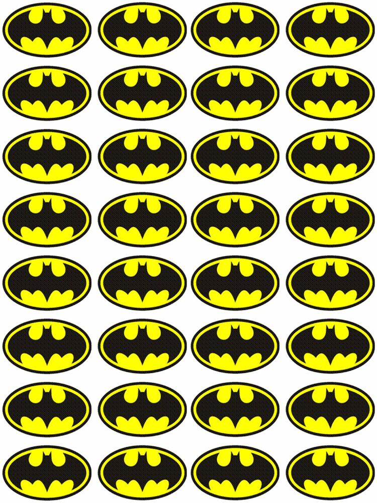Batman Cupcake Decorations
