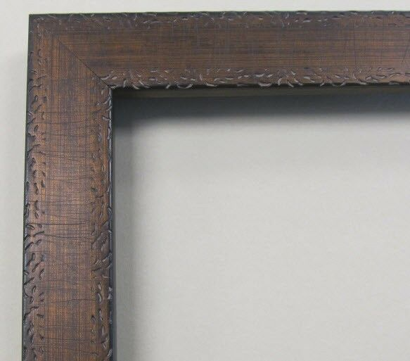 Antique Flat Gold Amp Brown Custom Made Wood Picture Frame