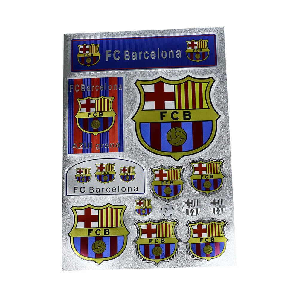 Barcelona Club Messi Waterproof Stickers Paster Reflective Stickers A4