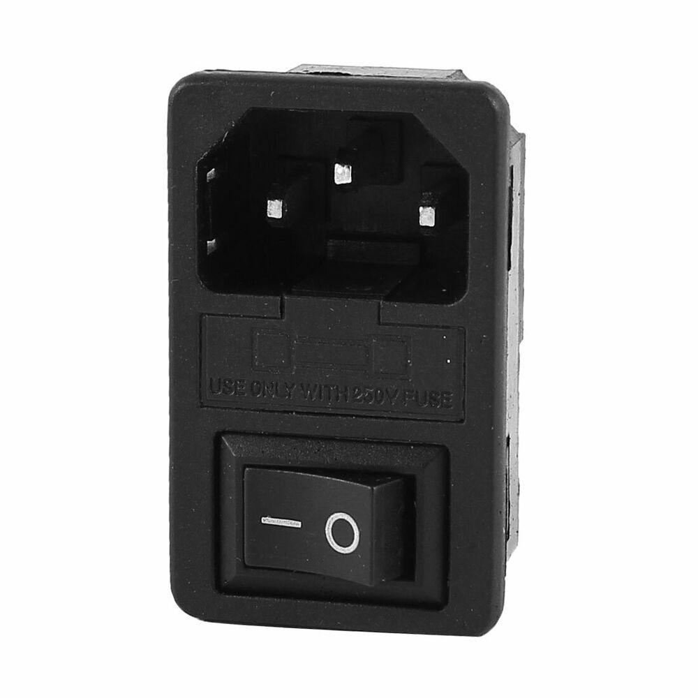 iec 320 c14 rocker switch fuse inlet male power supply. Black Bedroom Furniture Sets. Home Design Ideas