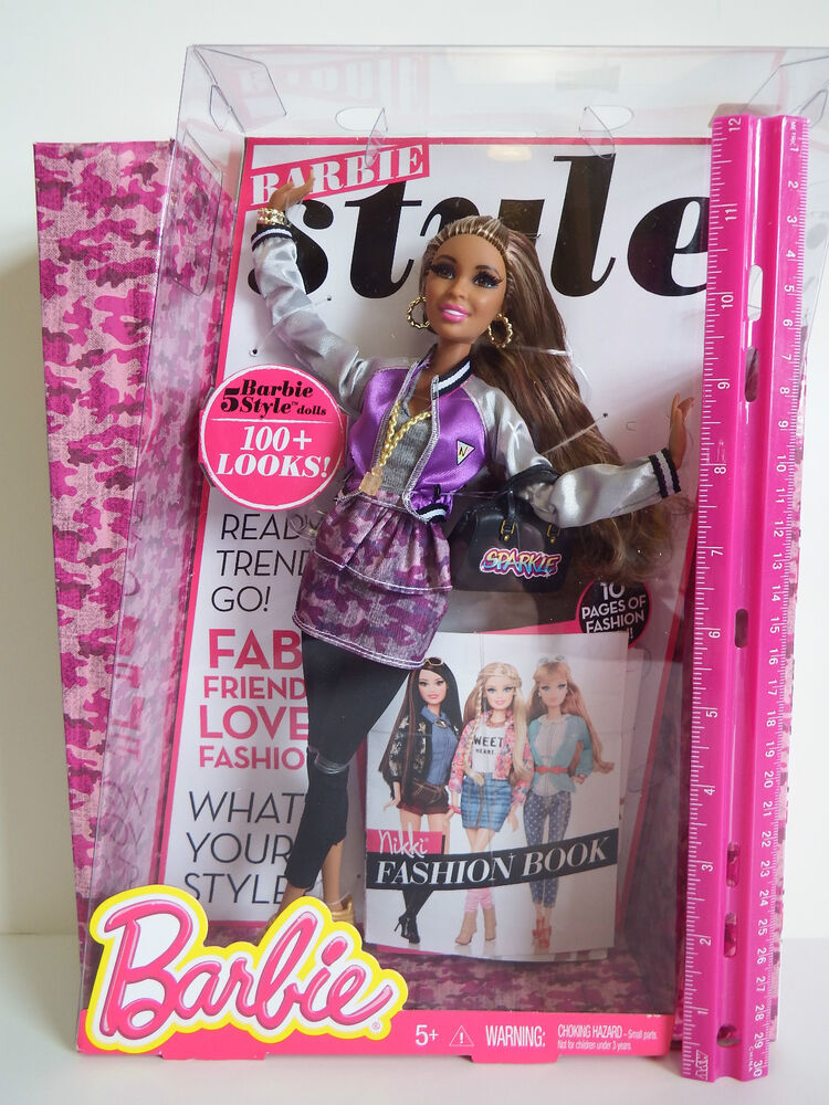 Barbie Style Doll Nikki With Lots Of Accessories 10 Page Fashion Book Ages 5 Ebay