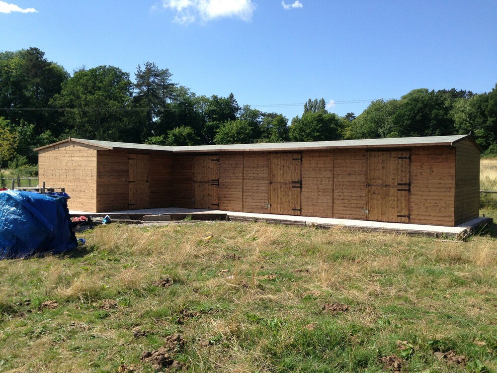 L Shaped Heavy Duty Stables Tongue And Groove Shed Horses