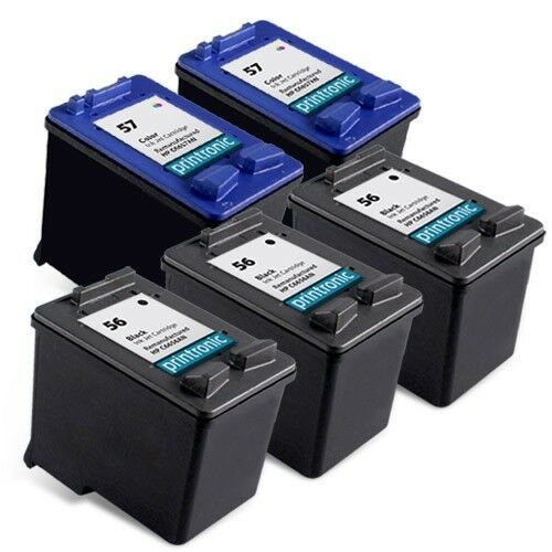 5pk hp 56 57 ink cartridge c6656an c6657an photosmart 7760 7550 7960 printer ebay. Black Bedroom Furniture Sets. Home Design Ideas