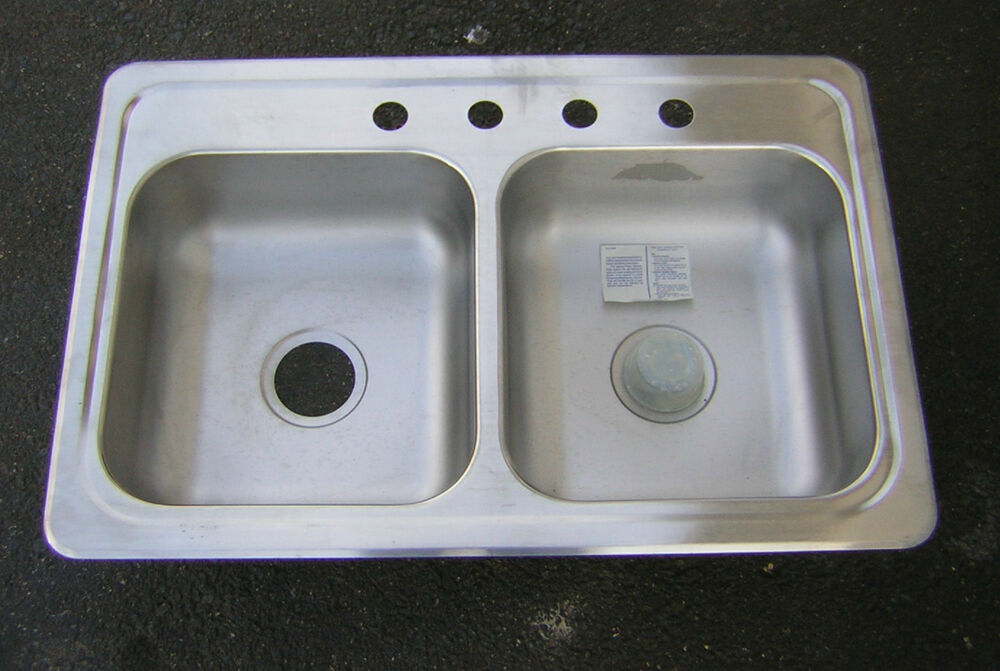 33x22 Stainless Steel Sink : Stainless Steel Double Kitchen Sink 33x22 NEW eBay